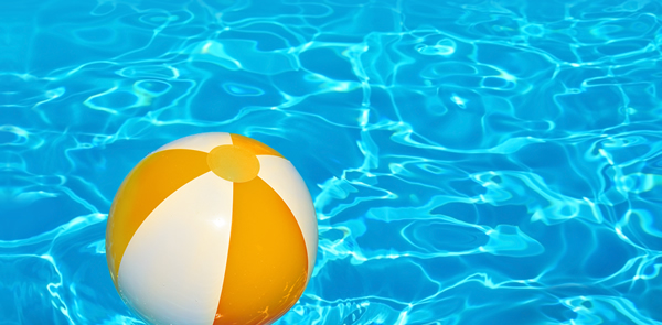 Swimming Pool with beach ball